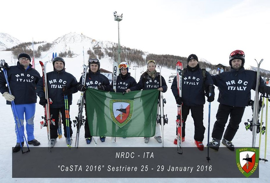 22nd January -  NRDC-ITA Team at the International Mountain Troops skiing competition
