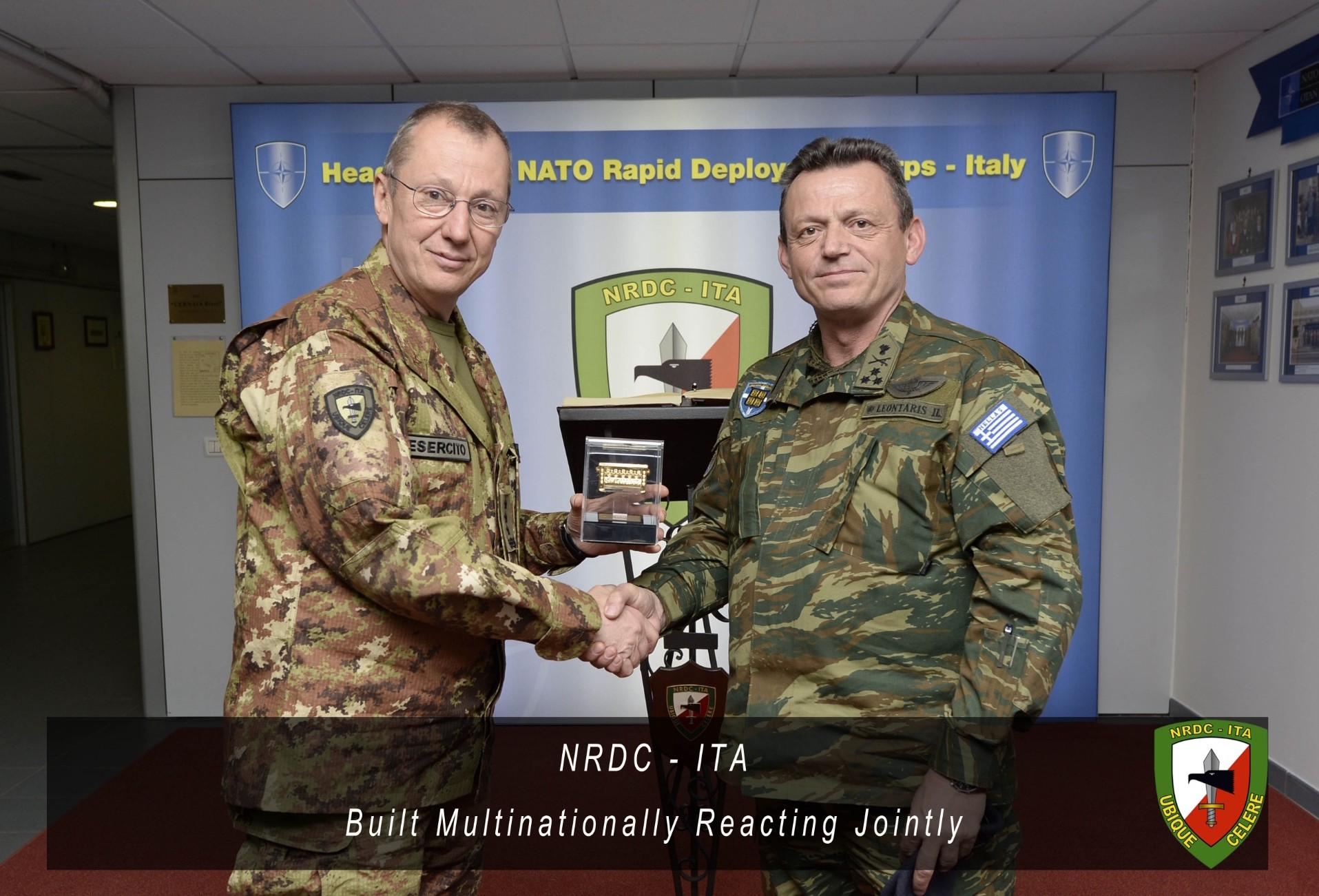 4th February - NRDC-ITA Commander receives the visit of NRDC-GR Commander.