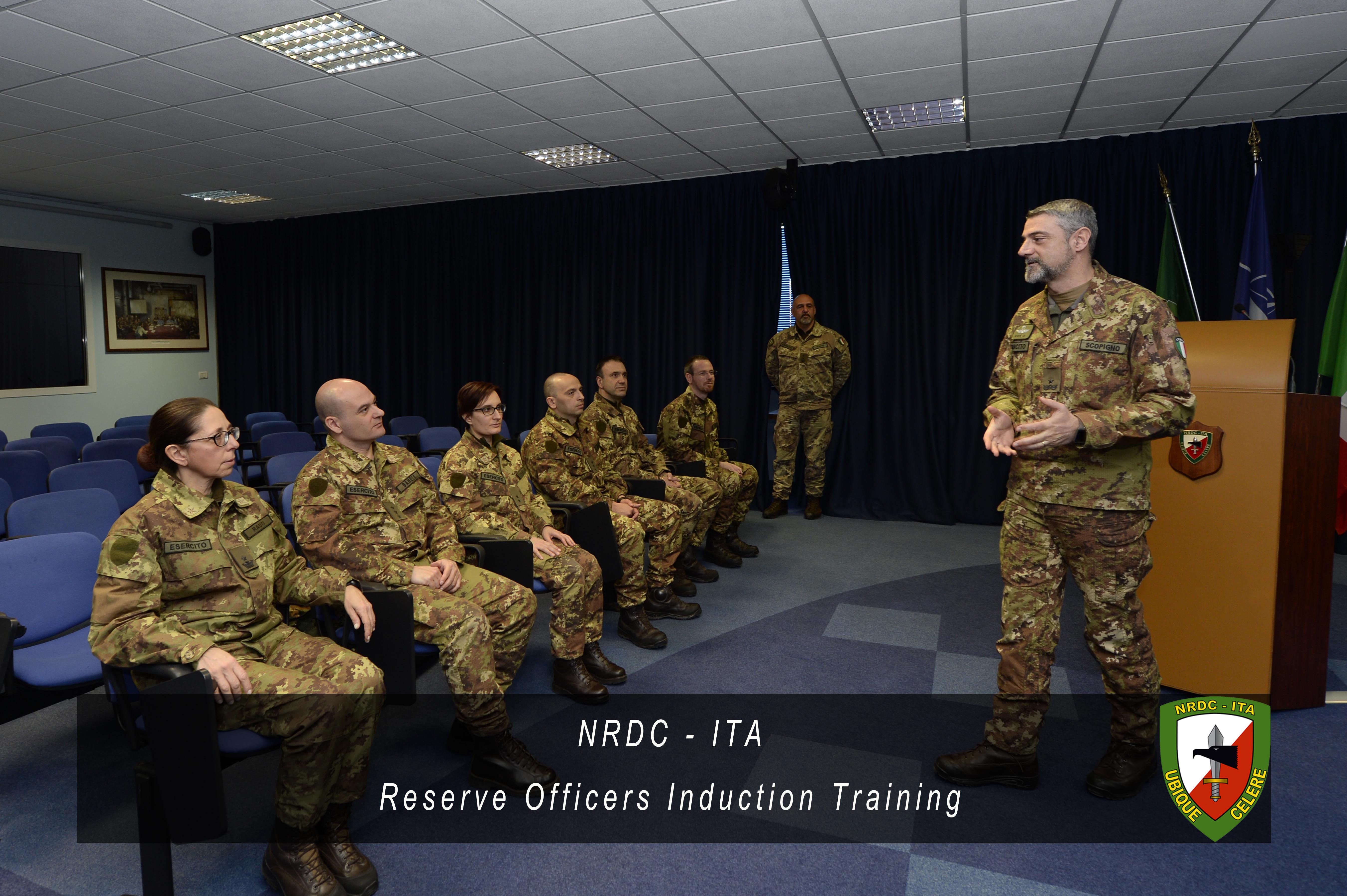 Closing day for the Italian Reserve Officers Induction Training