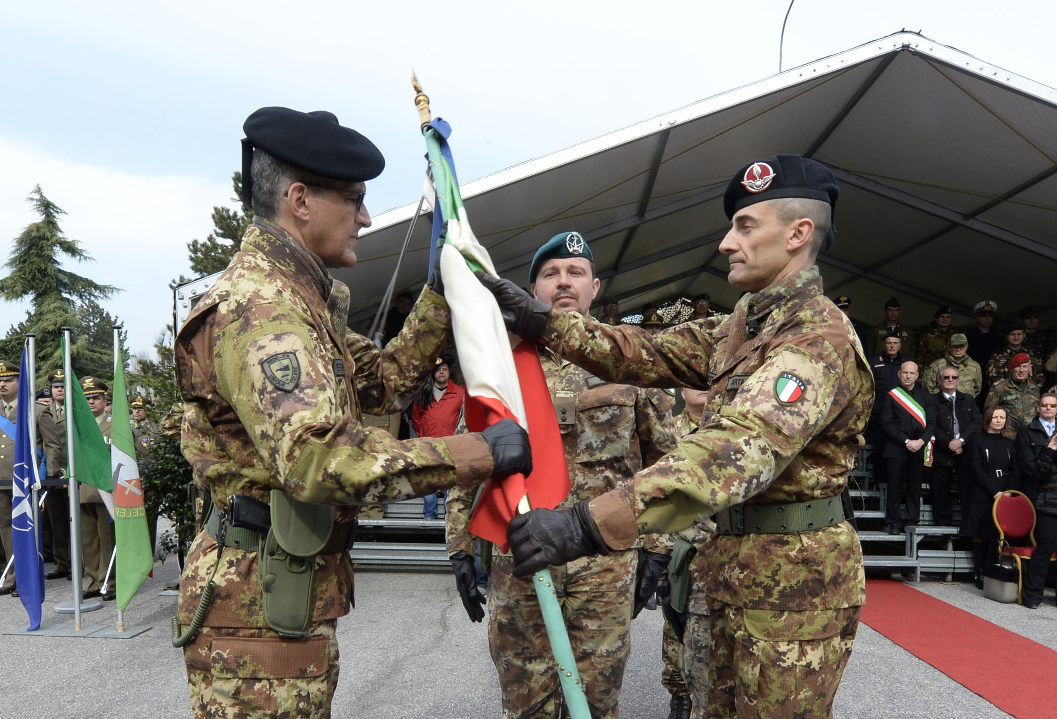 11th March Support Regiment: Change of Command.