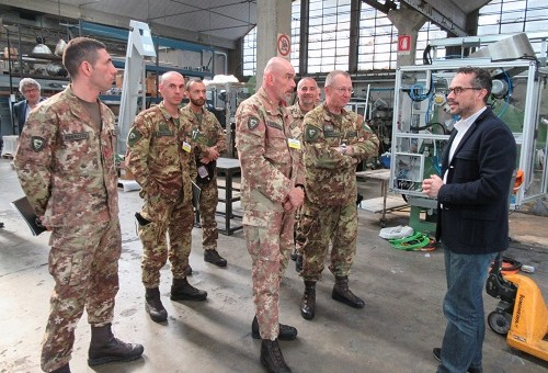 NRDC-ITA visits Fiocchi, hunting ammunition and cartridges factory in Lecco.