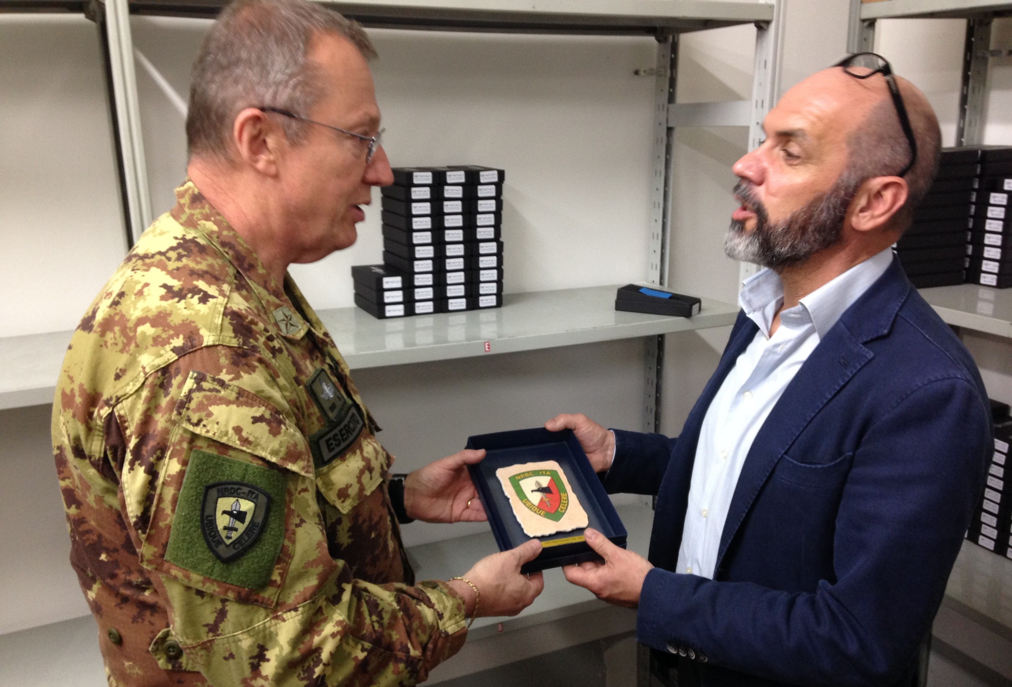 NRDC-ITA visits Extrema Ratio, high performance combat knives factory