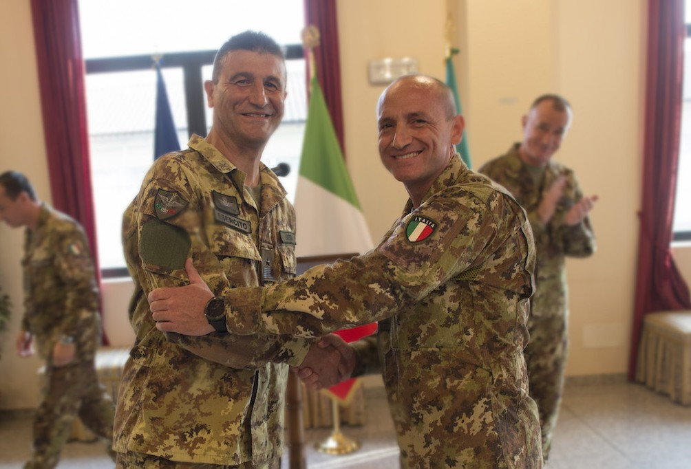 NRDC-ITA welcomes its new Command Sergeant Major