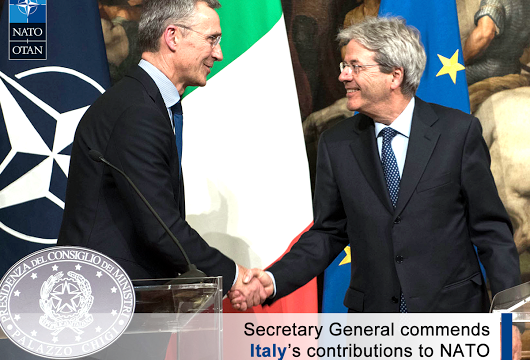 NATO Secretary General visits the Republic of Italy