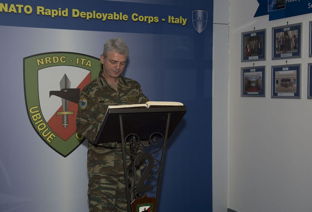 24th May - NRDC-GR Commander visits NRDC-ITA