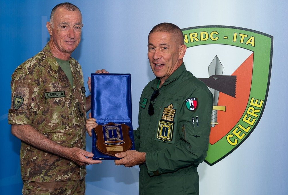 The NRDC-ITA receives a visit from the Commander of the Italian Air Force Operational Forces Command