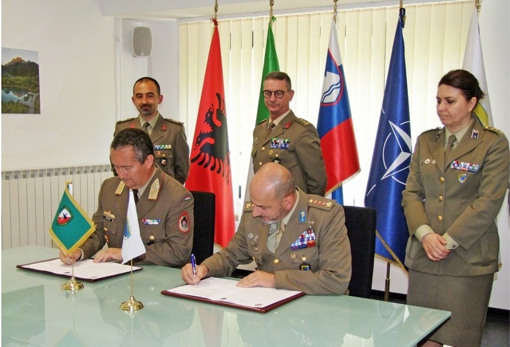 A Memorandum of Cooperation on Security Force Assistance was signed by NRDC-ITA and NATO SFA COE