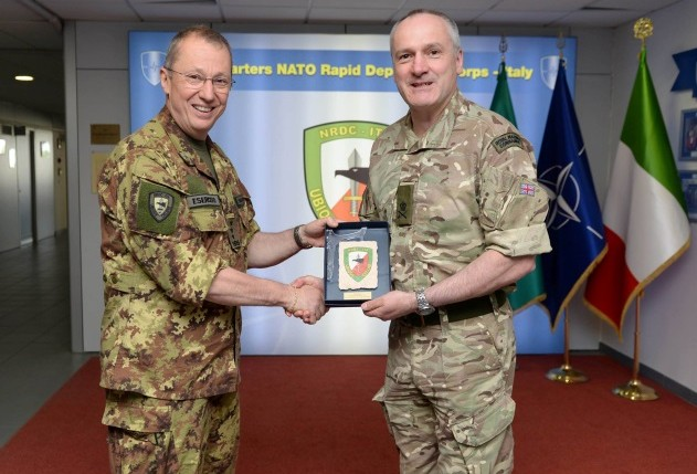 Lieutenant General Ed Davis, Deputy Commander of the Allied Land Command (LANDCOM) has visited the NATO Rapid Deployable Corps-Italy