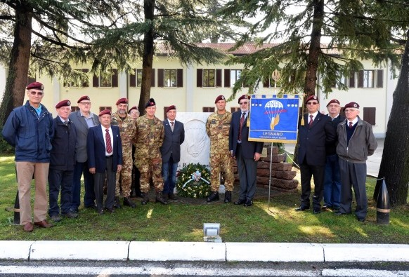 The Legnano branch of the Italian National Parachutists Association (ANPd'I) visits NRDC-ITA for a ceremony blessing their Labarum