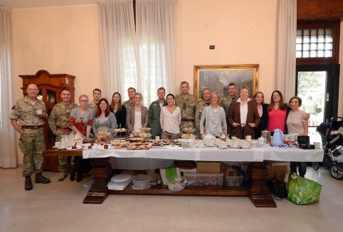 NRDC-ITA personnel contribute over 500 euro to charity event
