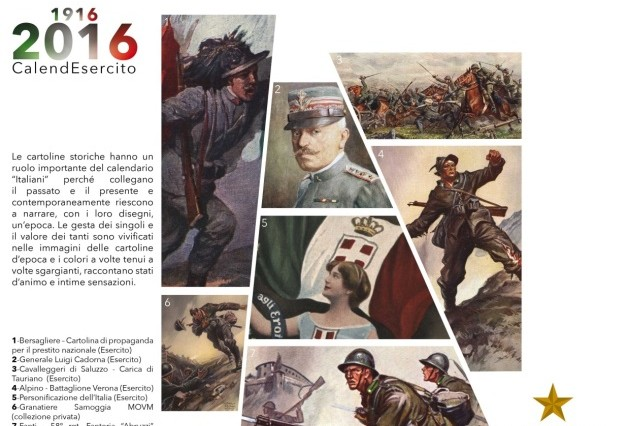 LT. GEN. Riccardo Marchio' represents NRDC-ITA at presentation  of Italian Army Calendar 2016