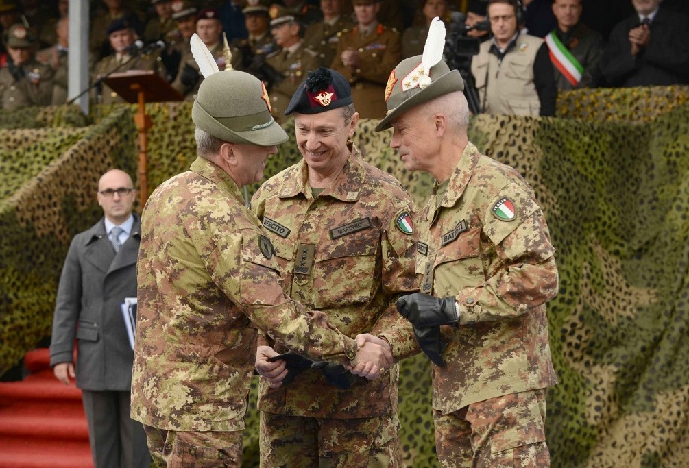 LT GENERAL BATTISTI HANDS OVER COMMAND TO LT GENERAL MARCHIO'