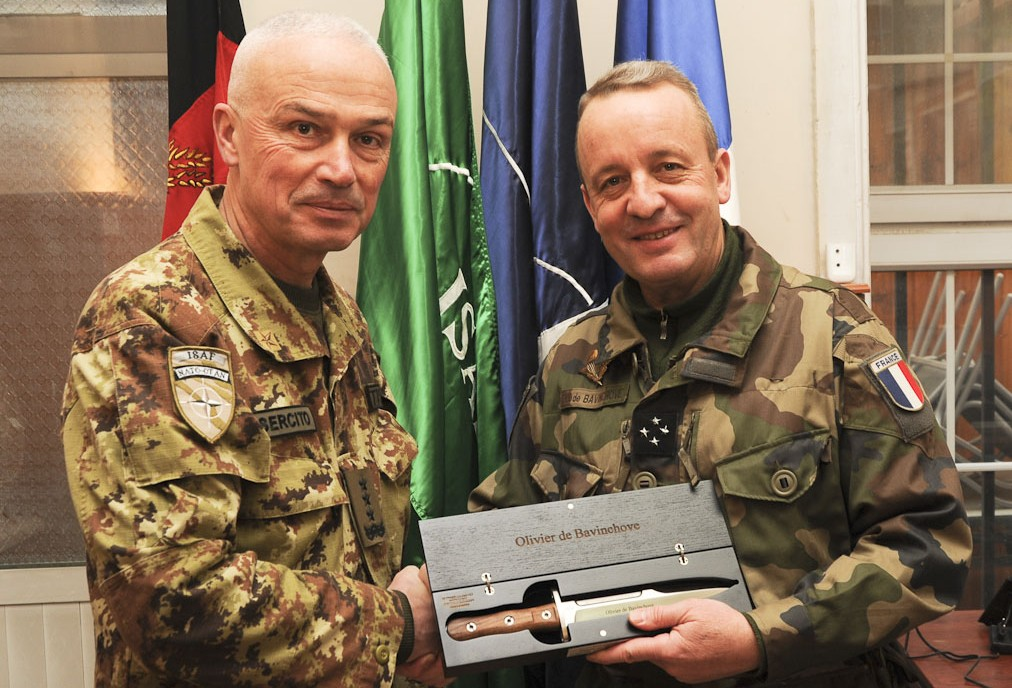 ISAF HQ BIDS FAREWELL TO DE BAVINCHOVE AND WELCOMES BATTISTI AS NEW CHIEF OF STAFF