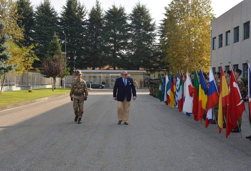 ITALIAN PARLIAMENTARY SECRETARY VISITS UGO MARA BARRACKS