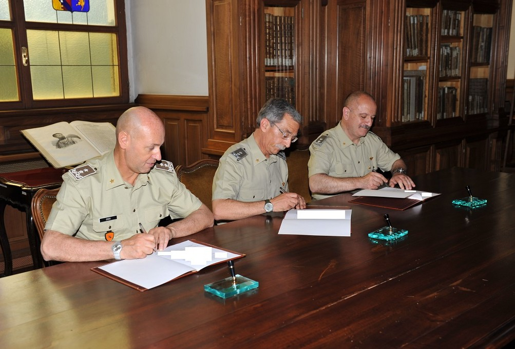 MEMORANDUM OF UNDERSTANDING BETWEEN NRDC-ITA,  THE ITA ARMY OFFICERS' SCHOOL AND THE POST CONFLICT OPERATIONS CENTRE