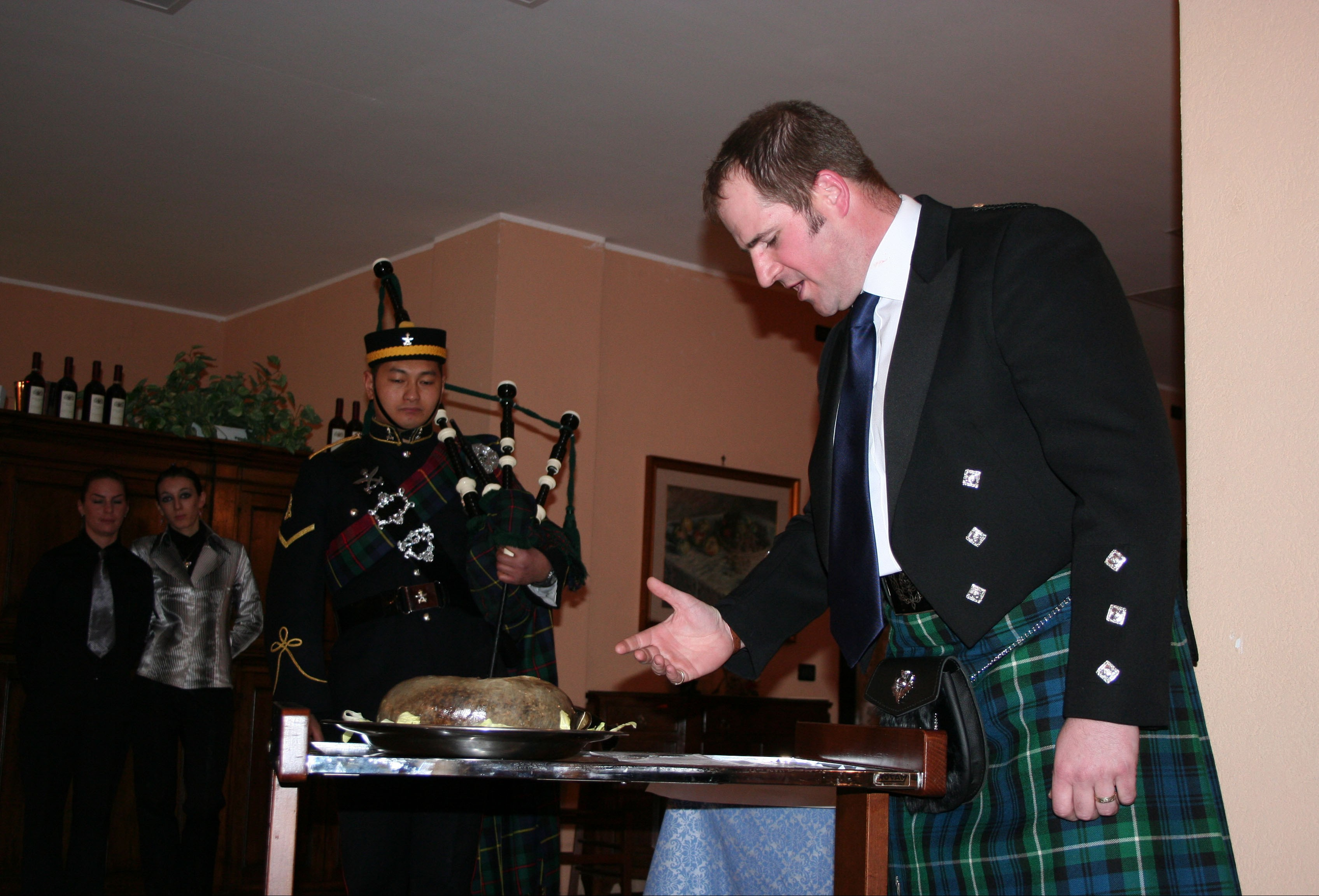THE UK CONTINGENT CELEBRATES BURNS' NIGHT WITH INTERNATIONAL COLLEAGUES