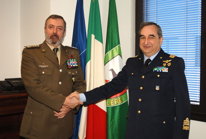 THE COMMANDER OF THE 1st ITALIAN AIR REGION VISITS NRDC-ITA