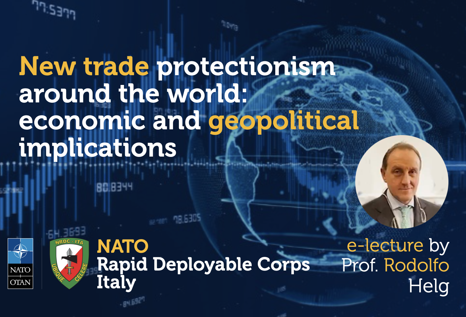 Conference at NRDC-ITA on the economic and geopolitical implications of Neo-protectionism in World Trade.