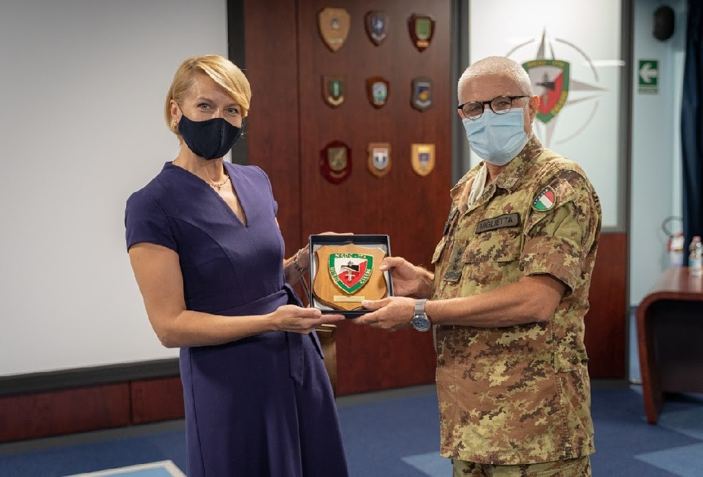 General Miglietta meets the Polish Consul General