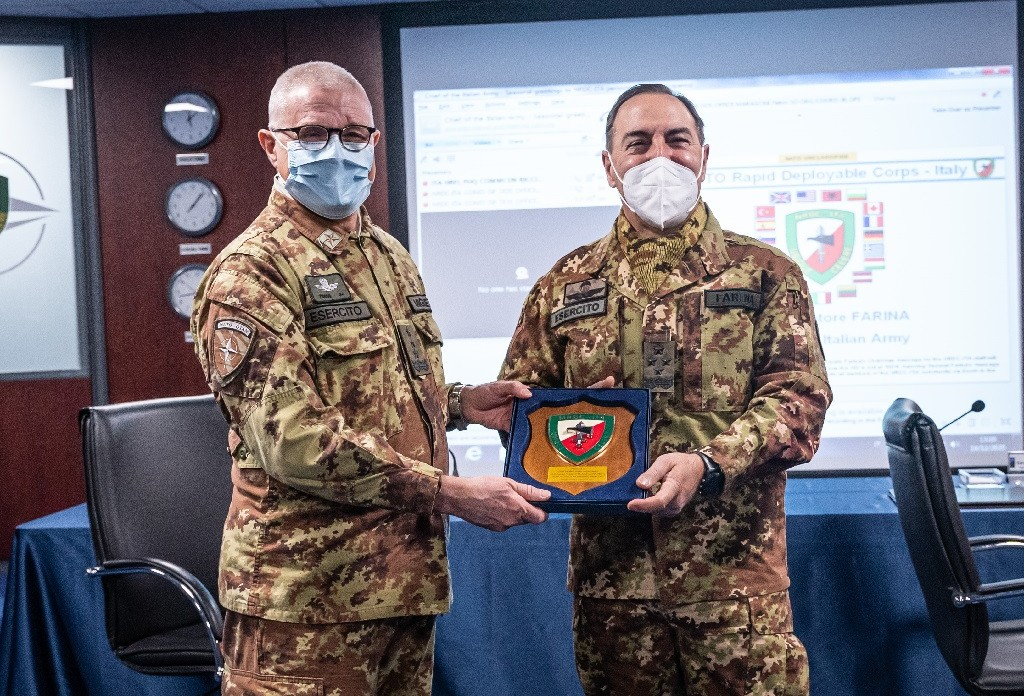 NRDC-ITA hosted the Chief of Staff of the Italian Army